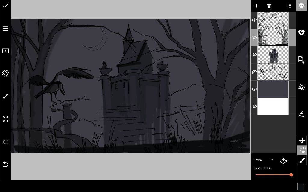 how to draw a halloween scene