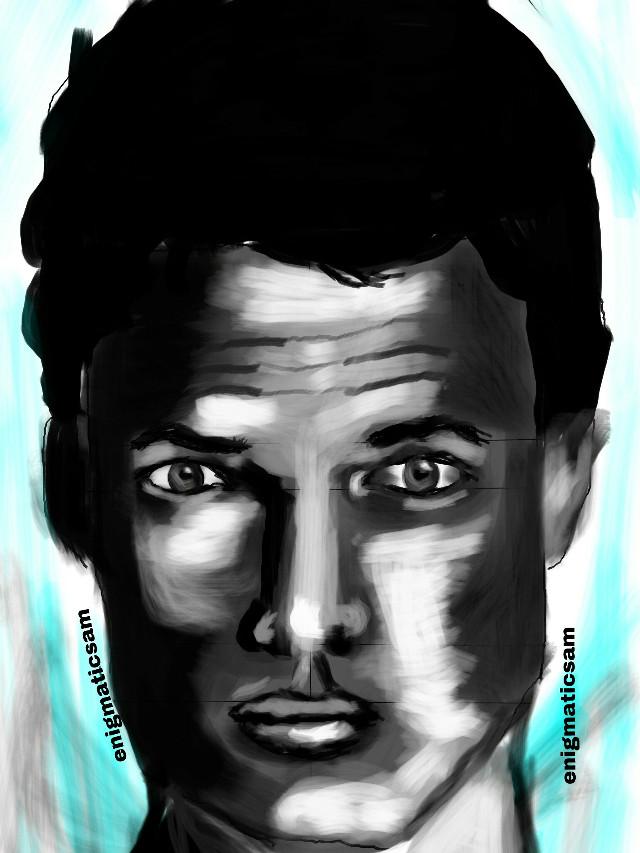 'Stare'       #drawing  #man  #blackandwhite   #people  #emotions  #portrait   #sketch   #pa