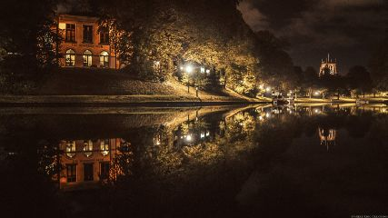 Leeuwarden netherlands midnight retro