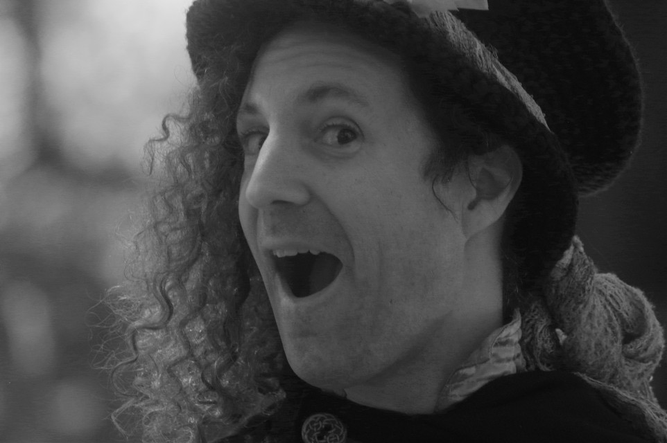 Friendly Face  #people  #portrait  #blackandwhite  #silly #kcrenfest  #kc #smile #whimsy #photography  #artistic