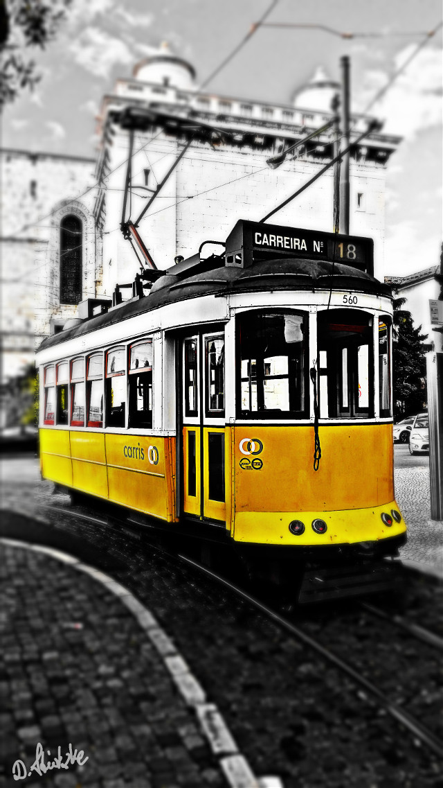 #colorsplash #blackandwhite #travel #lisboa #hdr  #tram  #lisbon