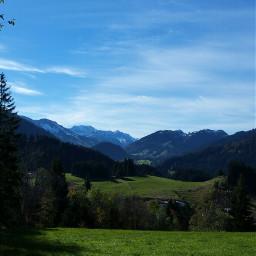 bavarian mountains autumn travel nature