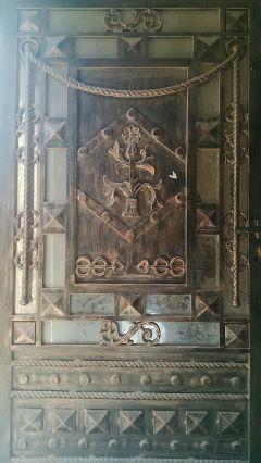 pattern designs door angle light