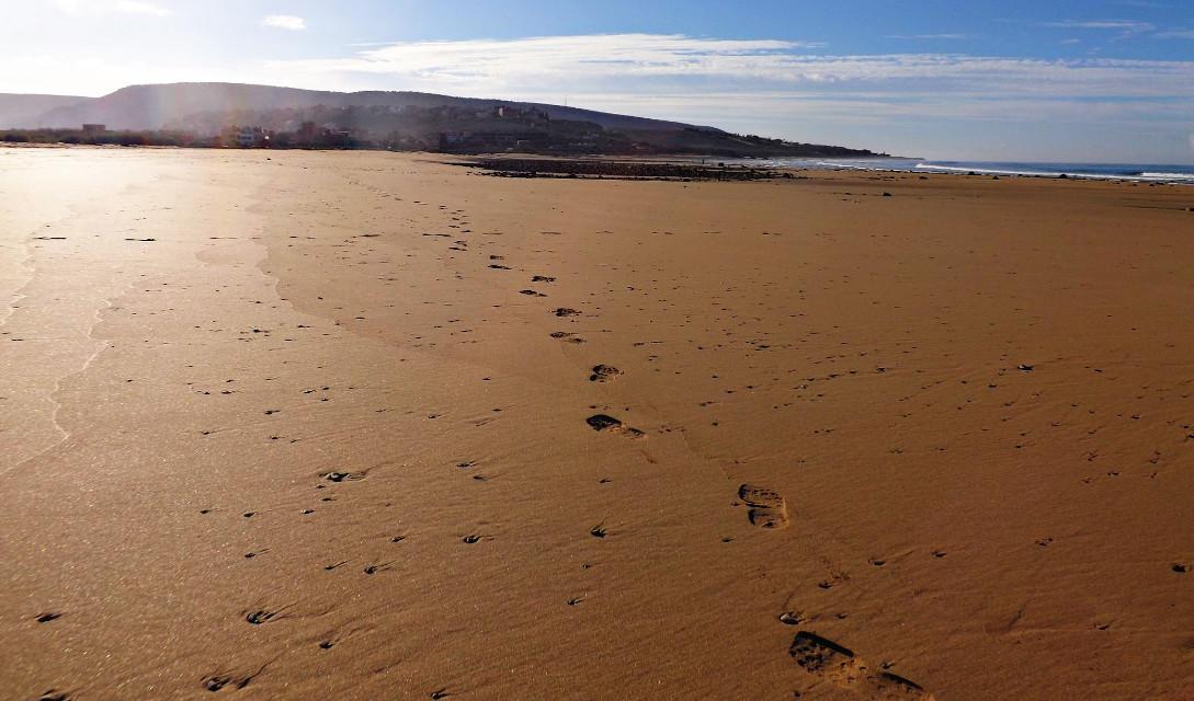 #beach #foorprints #morocco