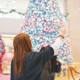 christmastree photography girl