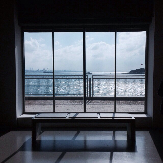 #window #sea #throughmywindow  #shadows #modern #lights #rays