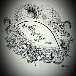 blackandwhite drawing emotions handwrite happynewyear
