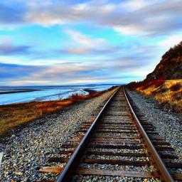 alaska railroad photography vanishingpoint landscape