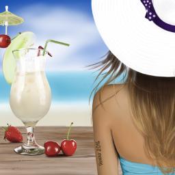 drawing summer fun vacation art