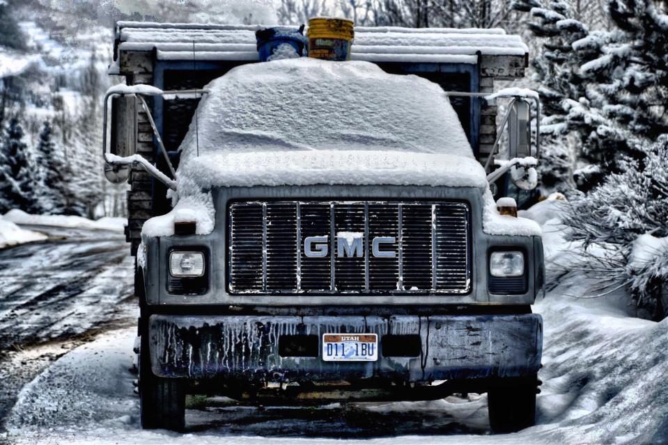 TANK #Winter#freetoedit#truck#snow#ice #snowremoval