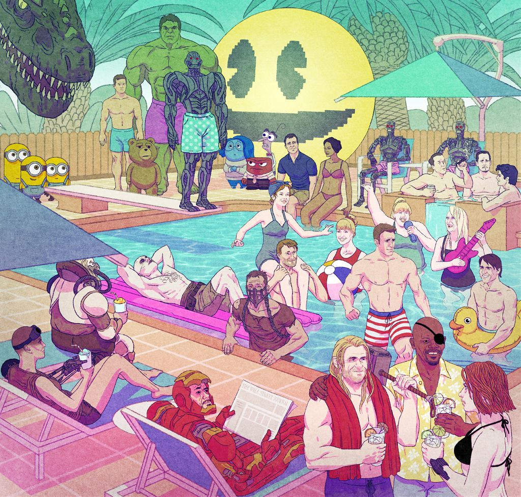 summer movies illustration