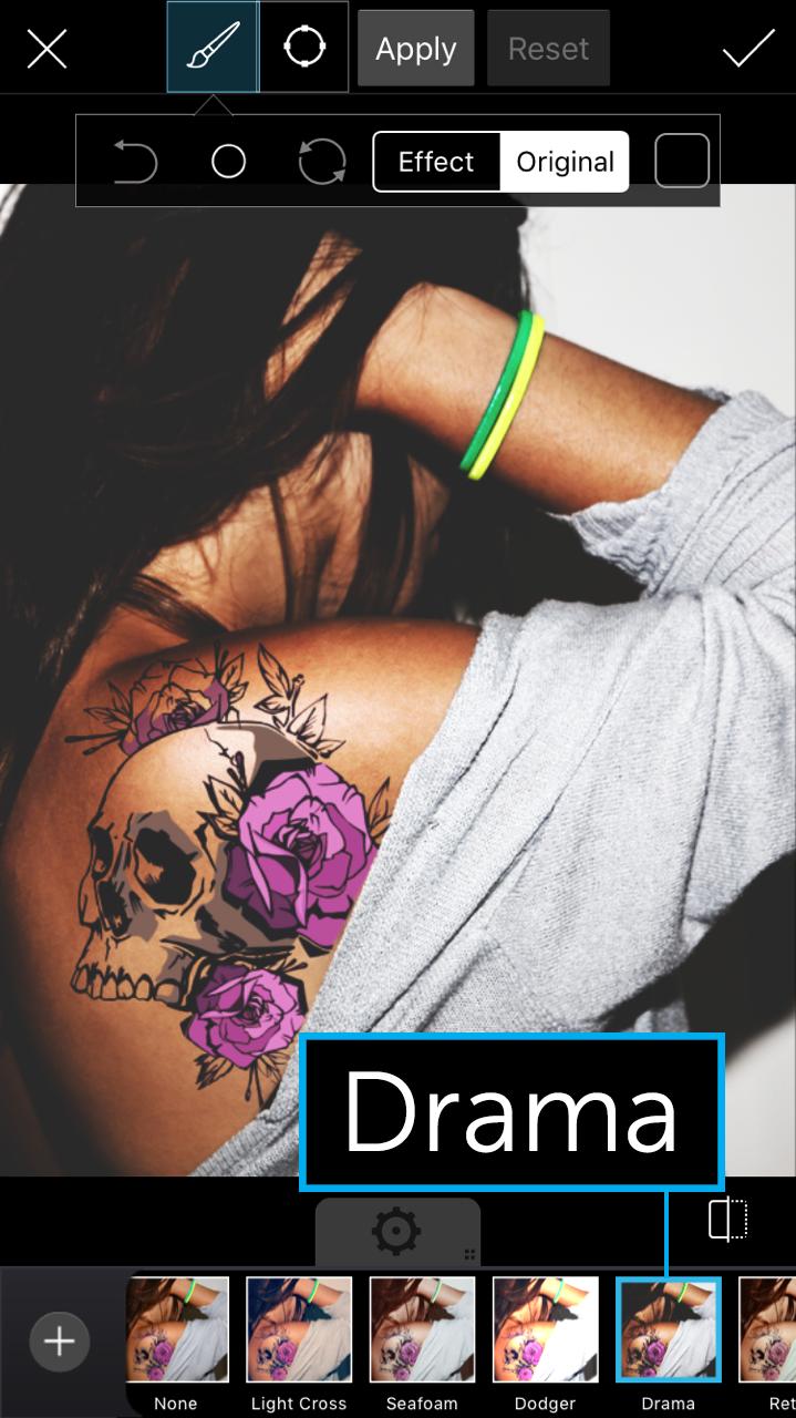 drama photo effect