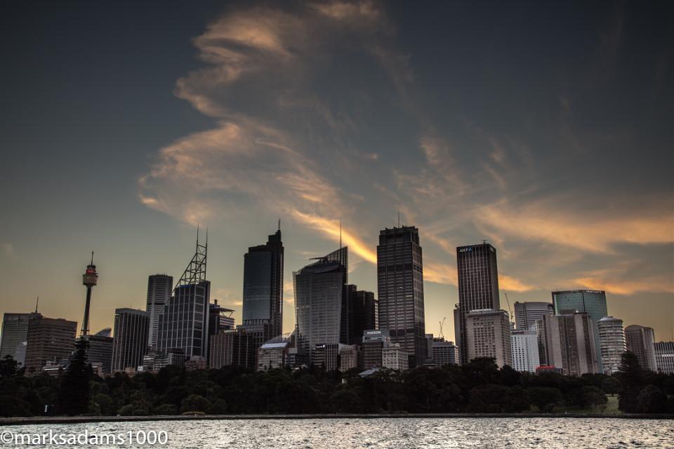 Sydney Nightfall    #sydney #australia #city #cityscape #landscape #landscapephotography #sydneyharbour #sunset #silhouette #dusk #twighlight