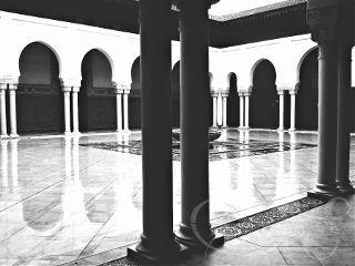architecture blackandwhite arch columns