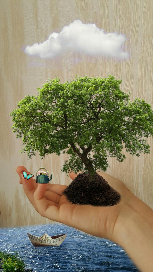 #surrealism  #tree #hands
