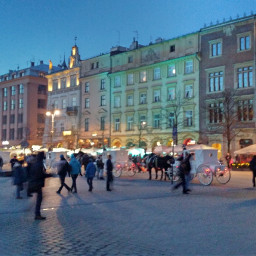 hdr city poland evening