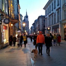 hdr city evening poland