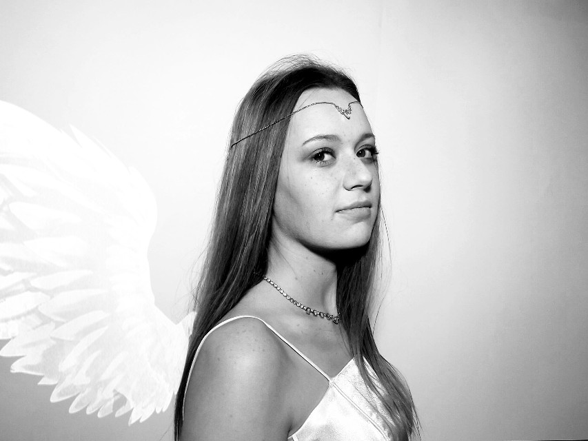 #angel #wings #winter #snow #photography #people #blackandwhite