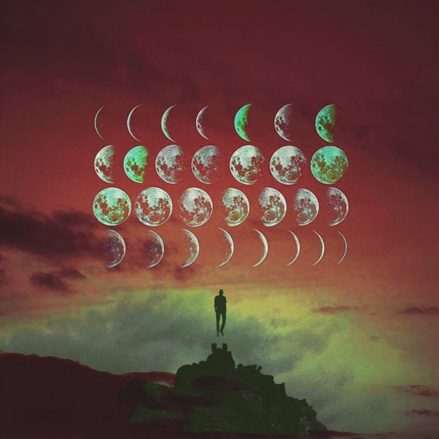 Moon story    #interesting #art #moon #madewithpicsart