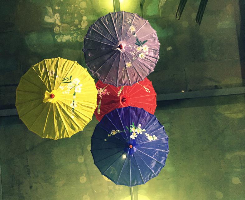 #FreeToEdit #chinaumbrella #umbrellas #interesting #iphonephotography #restaurant #ornament #dinner