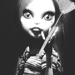 blackandwhite doll monsterhigh photography emotions