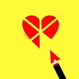 emotions heart minimal colorful digitaldrawing