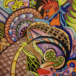 drawing tangleart