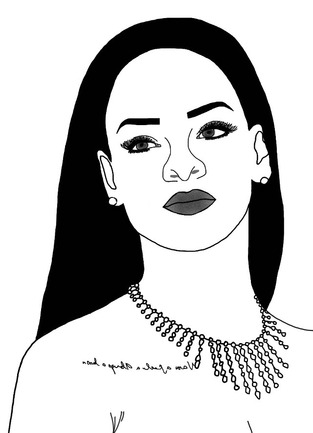 Rihanna outline 😍 #rihanna #outline #tumblr #tunblroutline