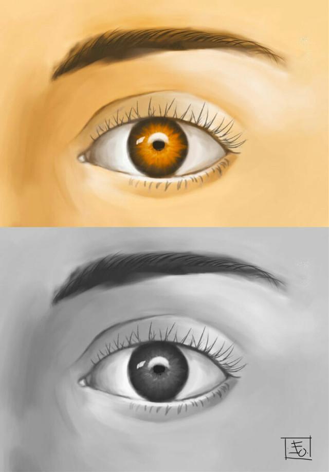 #art #blackandwhite #eye #digitalart