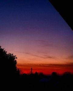 sunset fire sky love burning