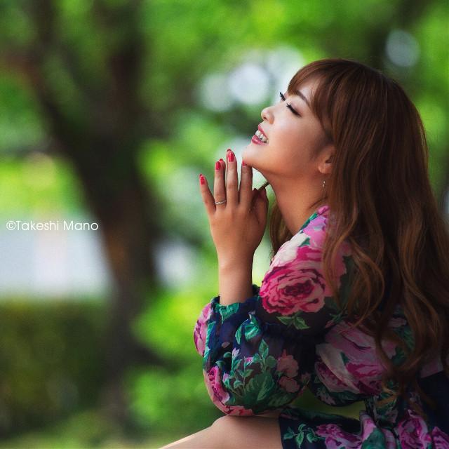 Smile  #smile #green #portrait #japan #woman #girl #model #spring #people