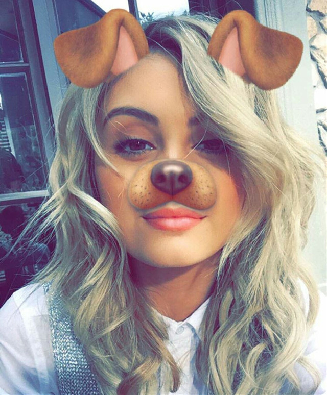 Snapchat dog filter, #people #cute #dog #outing #emotions