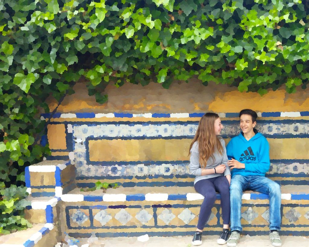 #love #happy #nice #two #cute #emotions #smile #spring #green #blue #boyfriend #girlfriend