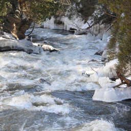 nofilter quebec chute winter water