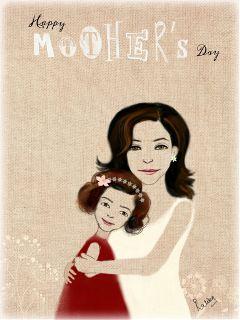 mother ma drawing love hug