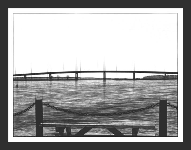 #frame #bridge #pencileffect