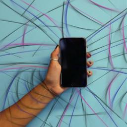 freetoedit iphone hand background blue