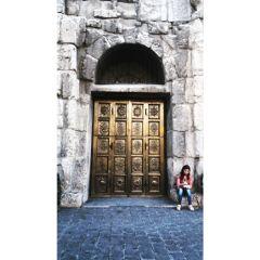 old door castle ancient