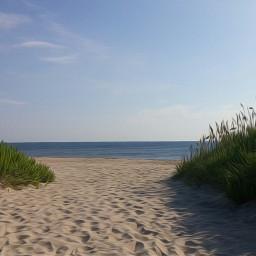 seascape blue sand sea sky